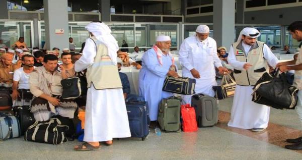 فيديو.. مغادرة الدفعة الأولى من الحجاج اليمنيين بمنحة من ولي عهد أبوظبي