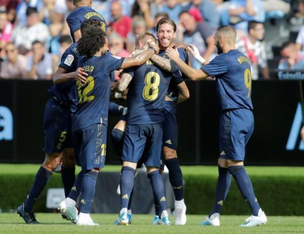 تسديدة كروس الرائعة تساعد ريال في الفوز على سيلتا رغم طرد مودريتش