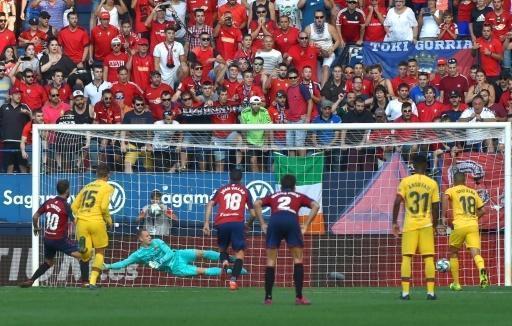 بطولة اسبانيا: توريس وأوساسونا يحرمان برشلونة من الفوز الثاني تواليًا