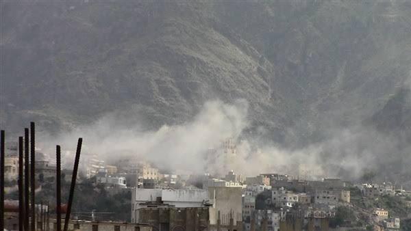استشهاد طفلين شقيقين بقصف حوثي استهدف حياً سكنياً بمدينة تعز