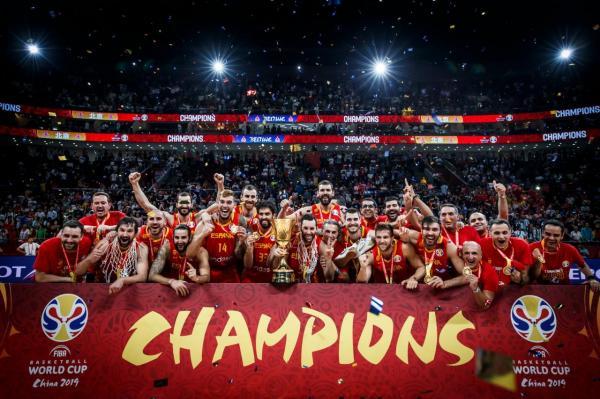 إسبانيا تفوز ببطولة العالم لكرة السلة للمرة الثانية في تاريخها