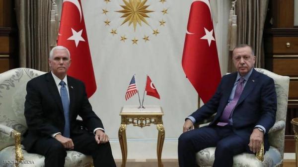 أردوغان يلتقي نائب الرئيس الامريكي في أنقرة