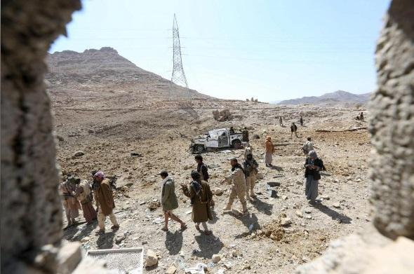 تقدم نوعي للقوات الحكومية بجبهة نهم ومشافي صنعاء تكتظ بجثث قتلى وجرحى المليشيا